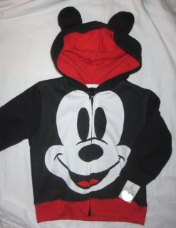 NWT Disney Mickey Mouse Hoodie with Ears 18M