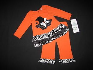 "New ""Witch's Hat"" Polka Dots Pants Girls 18M Halloween Fall Clothes Baby Outfit"
