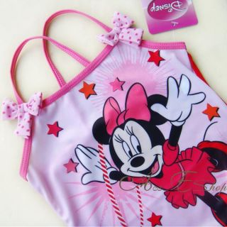 Girls Kids Minnie Mouse Swimsuit Swimming Costume Tankini Bathing Swimwear 2 6Y