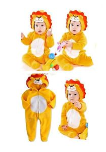 0 30M Baby Boy Girl Animal Safari Party Clothes Lion Costume Romper Body Suit
