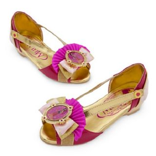 New  Princess Mulan Costume Shoes Dress Gold Pink Fall 2013