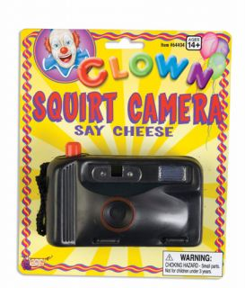 Squirt Camera Adult Halloween Clown Costume Accessory