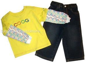 Toddler Boys Coogi 2 PC Outfit Layered Look Shirt Jeans Pants Sz 2T $56