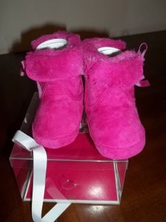 Juicy Couture Baby Girl Pink Boots Sz 3 6 9M $58