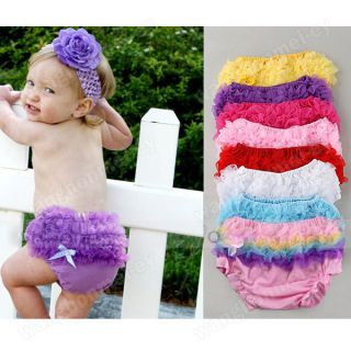 Hot New Baby Girls Pettiskirt Ruffle Panties Briefs Bloomer Diaper Cover 6 24M