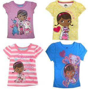 Disney Doc McStuffins Toddler Girls Kids Short Sleeve Shirt Tee Top 2T 3T 4T New