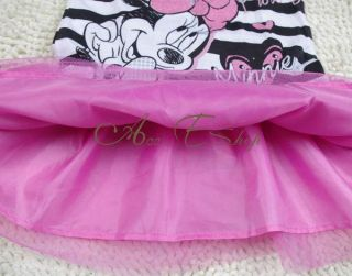 Girls Baby Size 2 3 3X Minnie Mouse Costume Party Dress Pink Tutu Skirt Outfit