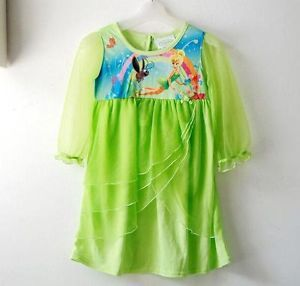 New Girls Toddler Kids Disney Fairies Tinkerbell Costume Dresses Green Size 2T