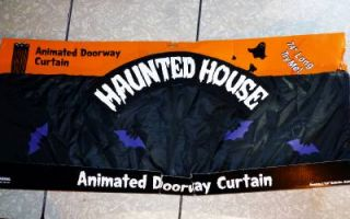 Halloween Party Decoration Prop Animated Lights Sounds Doorway Curtain Door New