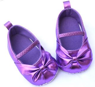 Hot Pink Silver Gold Red Purple Mary Jane Toddler Baby Girl Shoes Size 3 4