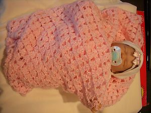 New Handmade Vinyl Silicone Preemee Baby Girl Doll with Clothes and Blanket