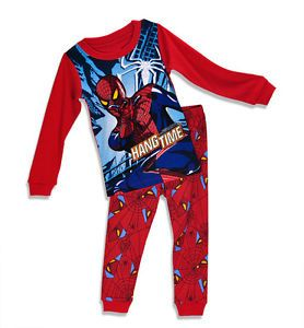 Baby Toddler Children Kids Boys Spiderman Fahion Sleepwear Cute Pajamas Set2 7Y