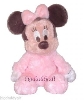 New Disney Baby Minnie Mouse Rattle Plush Doll Toy