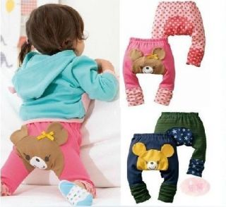 Cute Pattern Toddler Boys Girls Kids Pants Baby Cartoon Warmer Cotton Pants New