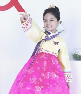 Girl HANBOK Korean Traditional Clothes Korea Women Dress Wedding Party 3015