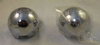 Akuza Wheels Chrome Custom Wheel Center Cap Caps Set 2 New