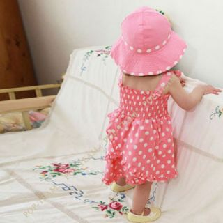 3pcs Kid Baby Girl Dress Braces Skirt Pant Hat Set Outfit Clothes Skirt 0 3Y TY6