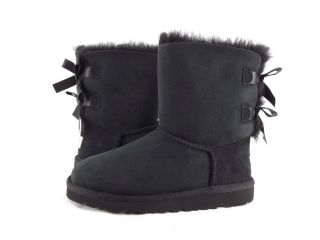 Children's Shoes UGG Australia Kids Bailey Bow Double Ribbon Boots Black