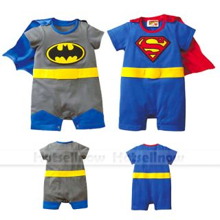 Baby Boys Gro Romper Suit Funky Superman Batman Fancy Gift Dress Costume Outfit