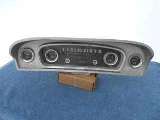 1965 1966 Ford Pickup Truck F100 Speedometer Gauges Original Bezel Custom Cab