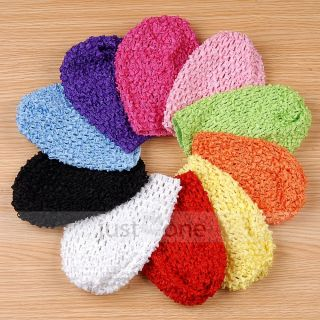 10x Multi Colors Newborn Baby Crochet Cute Beanie Hat Cap for Kids Girls Boys