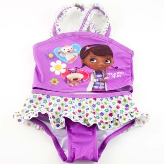 Disney Doc McStuffins Girls Tankini Swimsuit Sz 2T 3T 4T Swimwear Toddler Set