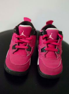 2011' Nike Air Jordan IV Retro 7c Pink Baby Girl Toddler Infant High Tops
