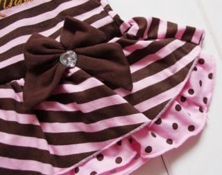 Minnie Mouse Girls Stripe Long Sleeve Top Dress Pants Costume Fancy Outfit 2 4Y