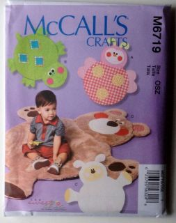 McCalls Pattern 6719 Infant Baby Play Mat Ladybug Turtle Lamb Bear 43 x 46 New