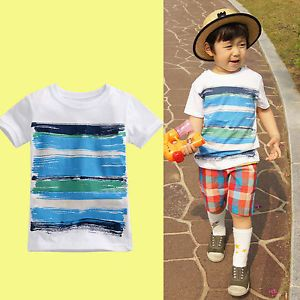 "Vaenait Baby Toddler Kids Boy Clothes Clothing Top T Shirts Tee ""Paint"""