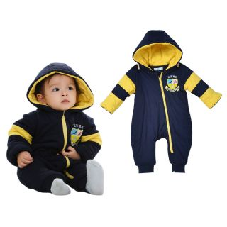 Xmas Boy Baby Clothes Toddler Winter Hoodie Romper Jumpsuit Coat Outerwear
