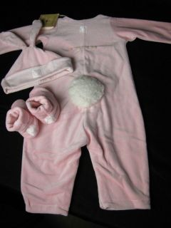 Anne Geddes Baby Girls Pink Bunny Suit Outfit 6 12 Months Easter Photo Op