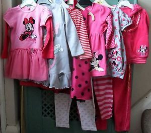 Baby Girls Clothes Disney Mini Mouse Bundle 12 24 Months Good Condition