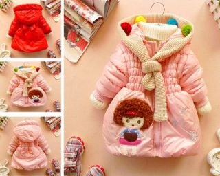 Baby Girls Kids Princess Cute Snowsuit Jacket Gown Coats Outerwear Clothing PZF