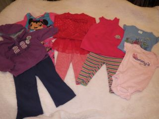 Lot of 10 Pieces Size 12 MO Baby Girl Clothes Super Cute