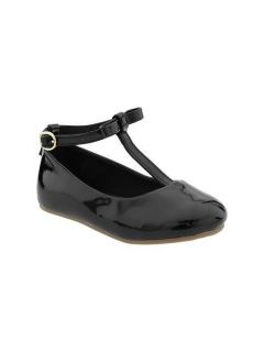 Baby Gap Toddler Girls Black Patent T Strap Bow Ballet Flat Shoe 10