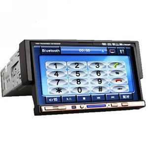 "1 DIN 7"" LCD Car Stereo DVD CD Player USB SD Stereo Radio iPod Bluetooth Mic"