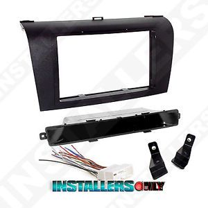 Mazda 3 Car Stereo Double 2 D DIN Radio Install Dash Kit w Wires 95 7504