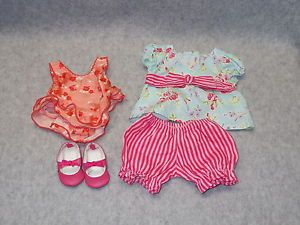 American Girl Itty Bitty Baby Doll Clothes Bathing Swim Suit Shoes
