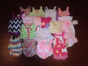 Huge 20 Piece Lot Baby Girl Summer Clothing 0 6 Months Gap Children's Place