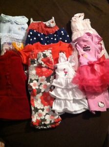 Baby Infant Girl 3 6 Month Clothes Lot Carters Hello Kitty Dress Shorts