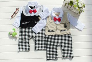 Baby Toddler Infant Newborn Romper Jumpsuit Bowtie Party Clothing 0