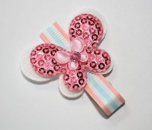 Baby Toddler Girl Pink Blue Sequin Butterfly Hair Clip