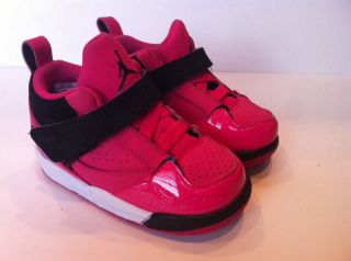 Girls Nike Jordan Flight 45 TD Basketball Shoe Size 6 Pink 364759 607 Toddler