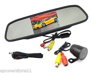 "4 3"" TFT LCD Car Monitor Mirror with Car Reversing Rear View Camera Night Vision"