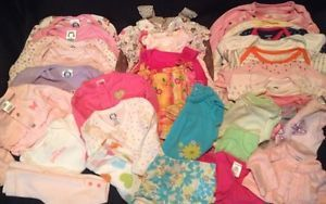REDUCED Huge 38 Piece Lot Baby Girl's Size Newborn 0 3 3 3 6 6 Months Clothes
