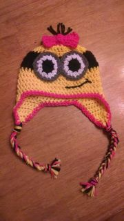 Minion Crochet Hat Despicable Me All Sizes Handmade Girl Boy