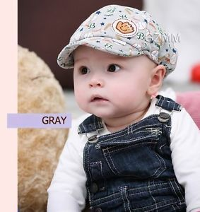1pcs Gray Boy Girl Unisex Newborn Baby Toddler Kid Baseball Dribble Hats Cap