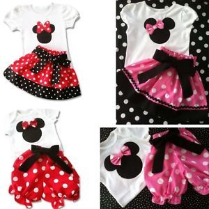 New Disney Baby Girls Clothes Set Top Skirt Shorts Dress Nappy Cover 6M 3Y