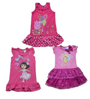 Girls Kids Baby Top Dress 1 6Y Peppa Pig Dora Princess Tutu Cartoon Cute Clothes
